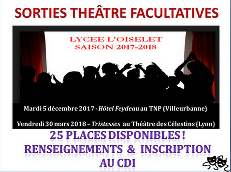 SORTIES THEATRE FACULTATIVES